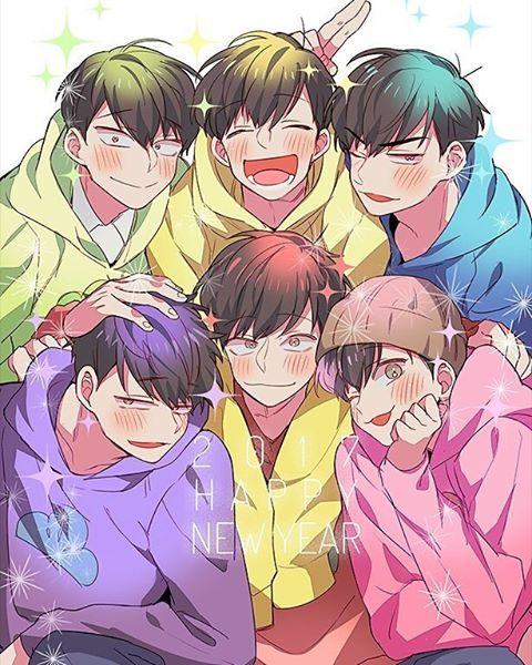 Osomatsu, Karamatsu, Choromatsu, Ichimatsu, Jyushimatsu y Todomatsu