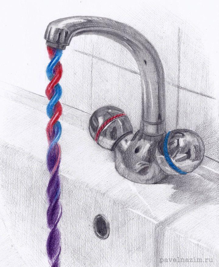 Инженерно-художественные карандашные рисунки
