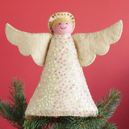 SMILING ANGEL TREE TOPPER