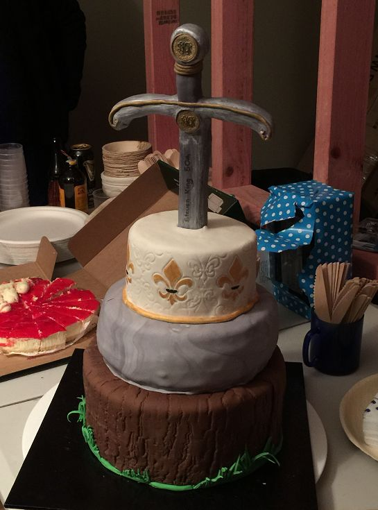 medieval 50th party cake