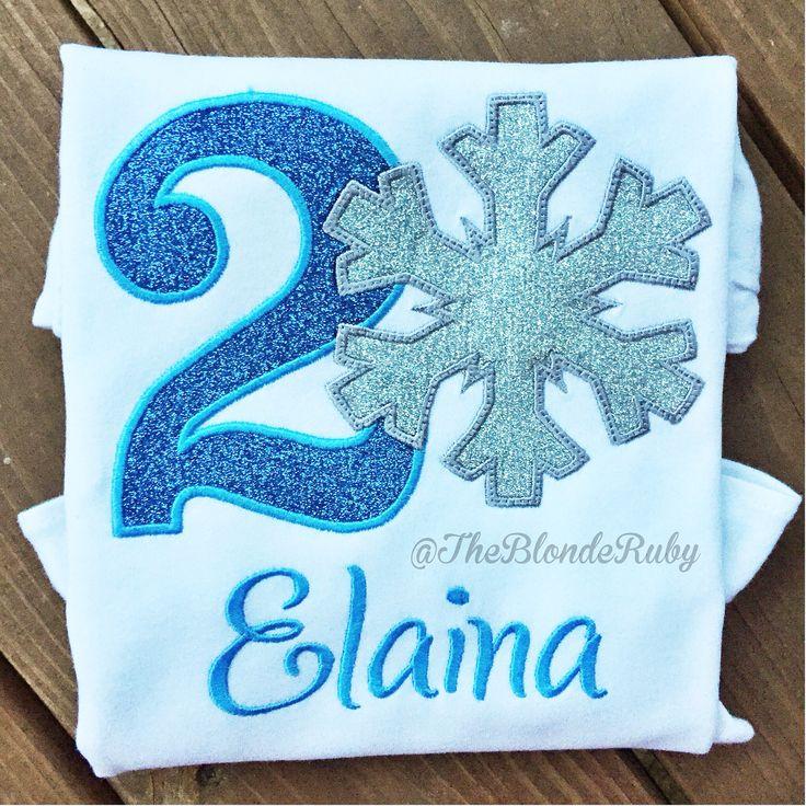 Frozen themed birthday shirt with glitter vinyl @TheBlondeRuby
