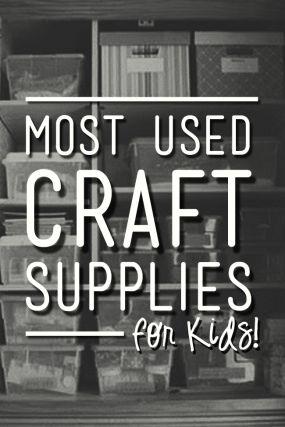 Una lista de los suministros de los niños de artesanía que se usa una y otra vez para muchas actividades