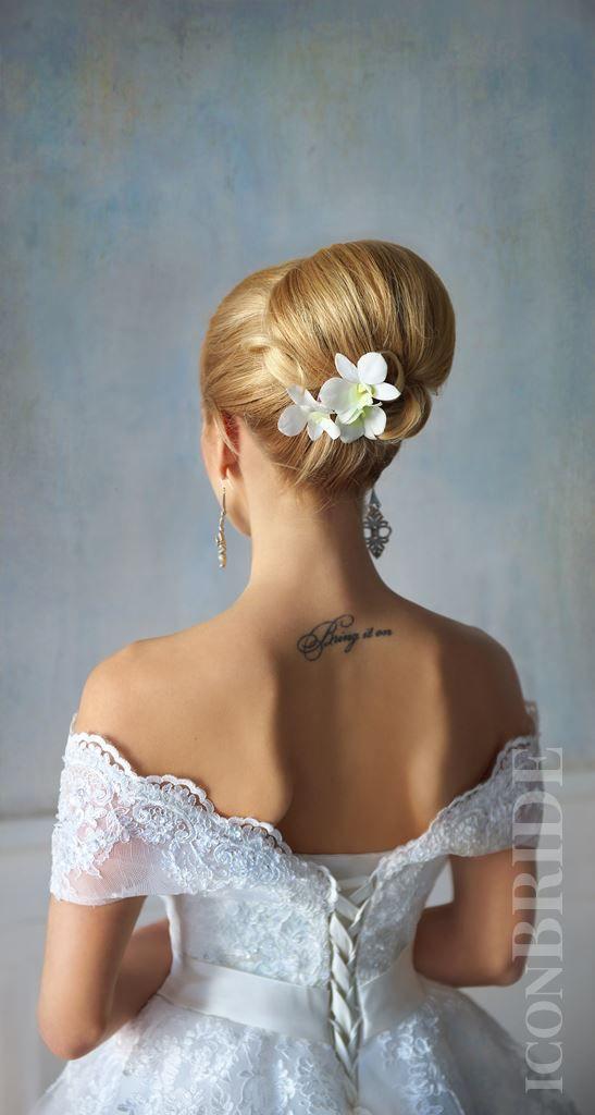 Свадебные прически пучки | iconBRIDE