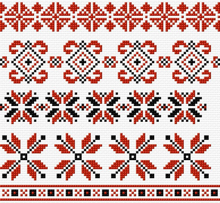 Cross Stitch | Ukrainian Patterns xstitch Chart | Design