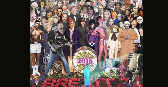 Beatles' Sgt Pepper album cover tribute to all the stars who died in 2016
