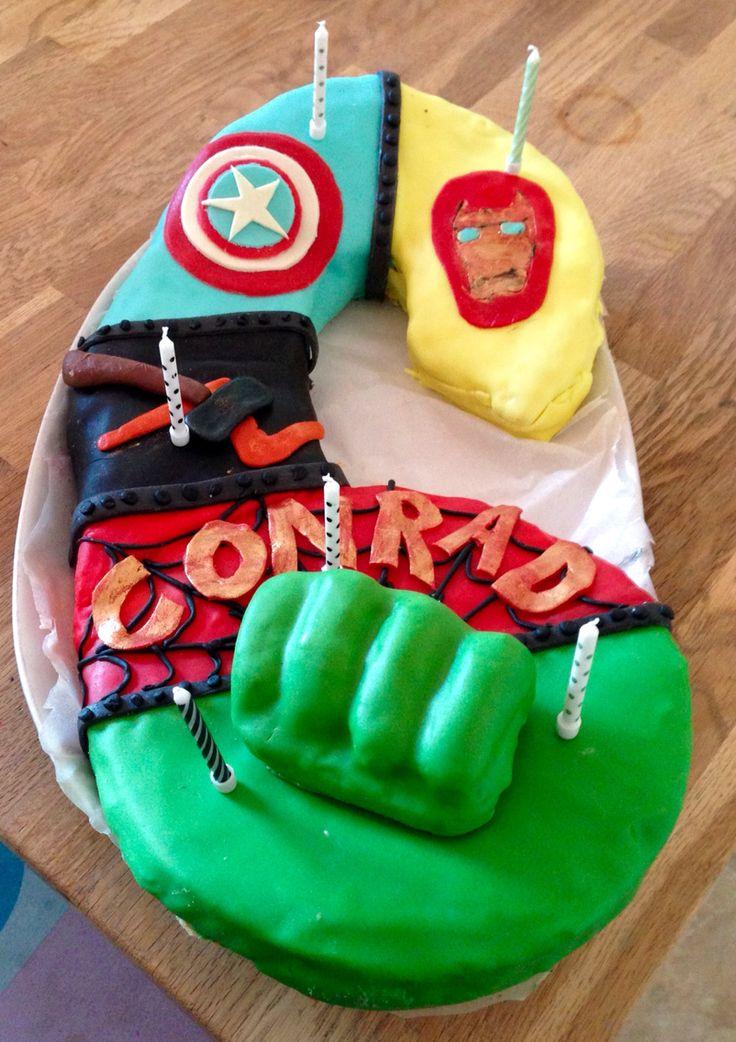 Avengers fødselsdags kage