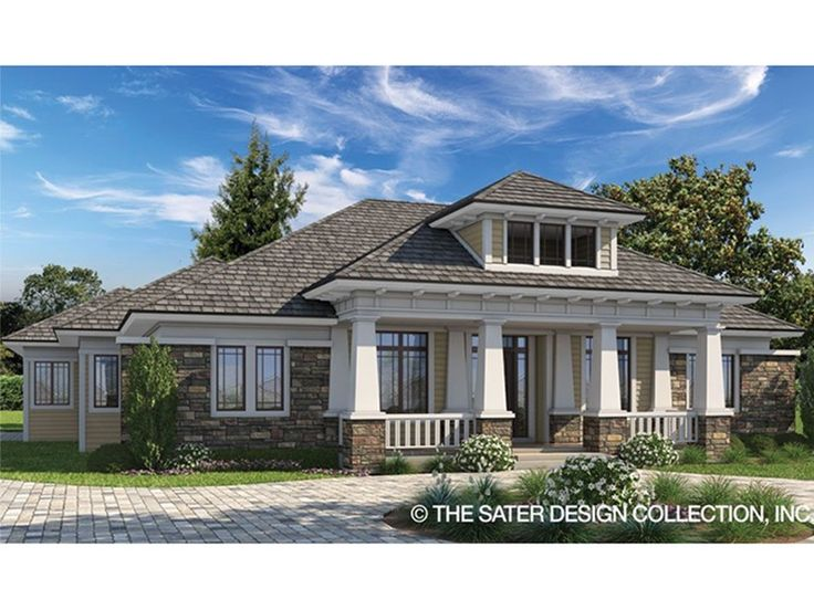 Prairie-Style House Plan with 2476 Square Feet and 3 Bedrooms from Dream Home Source | House Plan Code DHSW077903