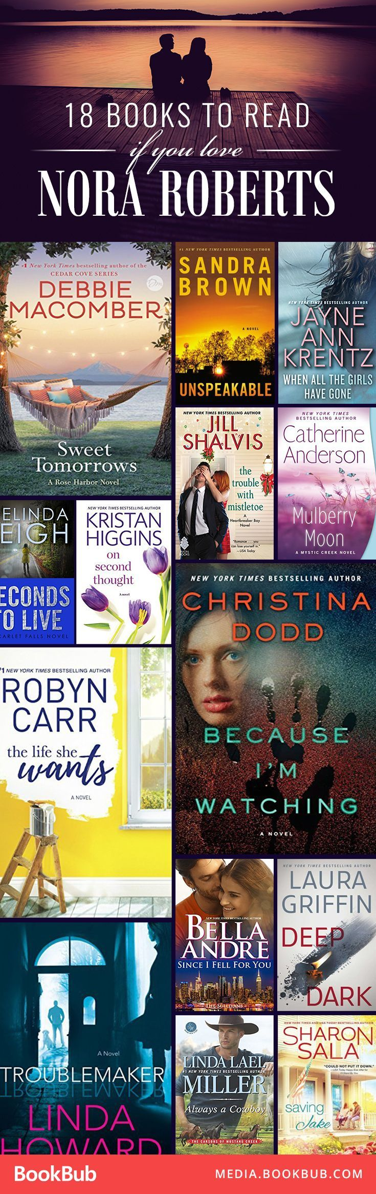 2912 best all about books images on pinterest thoughts book 18 books for your wishlist if you love nora roberts fandeluxe Images