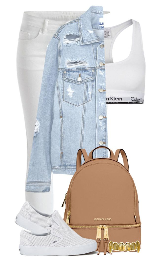 """:::"" by camgueyana ❤ liked on Polyvore featuring VILA, Calvin Klein Underwear, SJYP, MICHAEL Michael Kors and Vans"