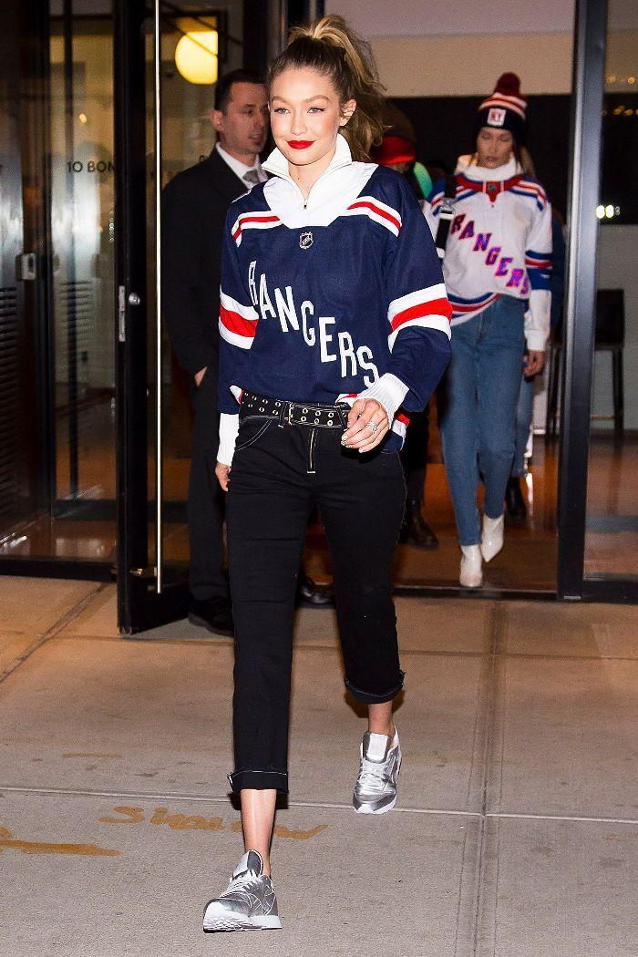 And Now Here S How Gigi And Bella Dress For A Hockey Game In 2019