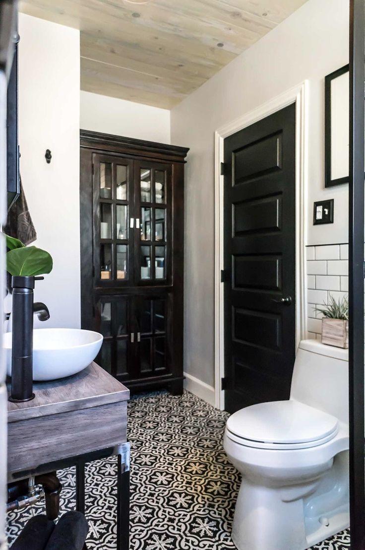 I love black doors in a house
