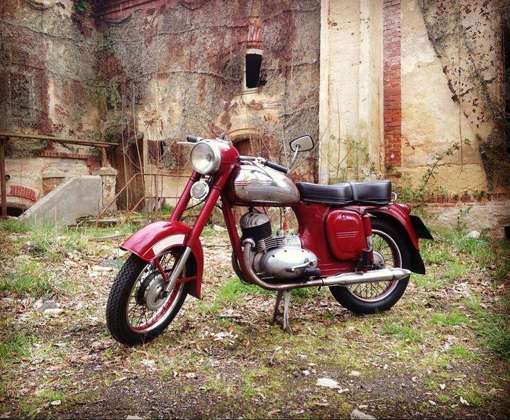 Jawa 175cc 1957  Photo courtesy of @stepan.doucha  More photos on - http://ift.tt/1MOOLiU (Link in Profile)   #jawa   #jawamotorcycles.com   #idealjawa  #2stroke   #chrome   #Cz   #biker   #motorcycles   #imtheindianbiker   #yezdi   #yjoci   #retro   #czech   #vintage   #vintagestyle  #india   #motorbike   #caferacer   #bikeporn   #instamotogallery   #dirt   #bike   #picoftheday   #gopro   #motocross   #motorcycleyard  
