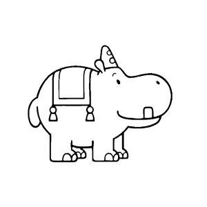 Pantoef het nijlpaard