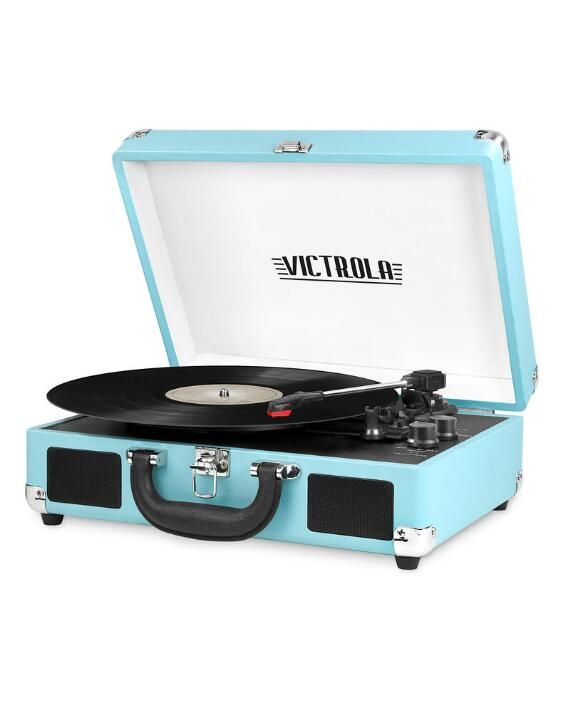 Portable Victrola Suitcase Record Player with Bluetooth