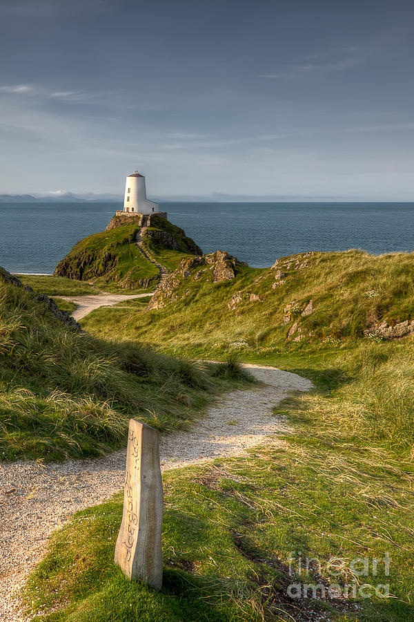 Llanddwyn Island lighthouse off the west coast of Anglesey, nothern Wales | Adrian Evans, Fine Art America