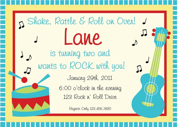 Music Themed Birthday Party Invitations | Music Birthday Party Invitation by LaurenHaddoxDesigns on Etsy