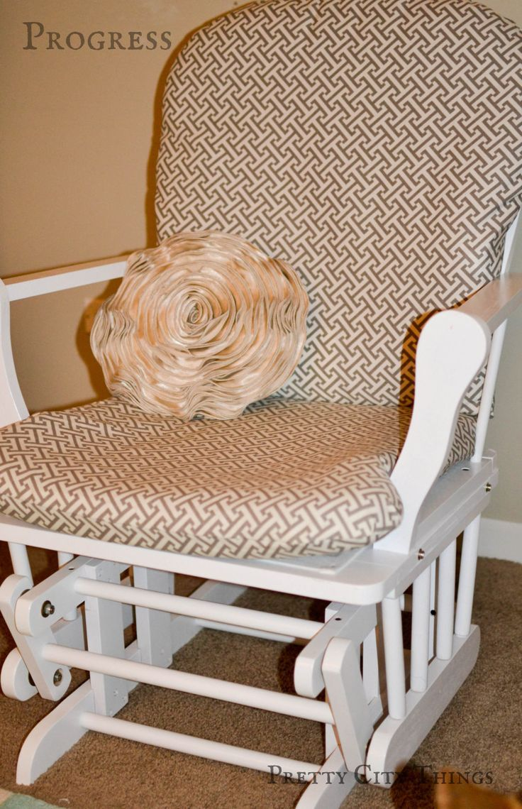 1000 images about upcycled chairs on pinterest replacement cushions sweet home and ottomans - Rocking chair cushion diy ...