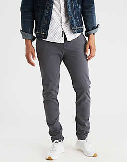 AEO Extreme Flex Slim Taper Chino, Stone | American Eagle Outfitters