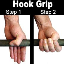 This is the hook grip, utilized by Olympic Weightlifters. Click here to find out the most common errors I see and a few other tips.  #OlympicWeightlifting
