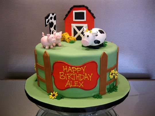 barnyard birthday cake | Farm-Cake