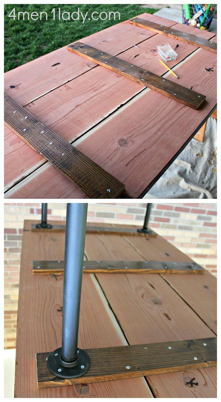 DIY Plumbing Pipe Table Tutorial.