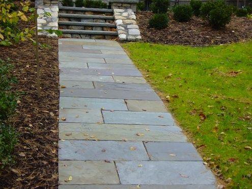 Laying a Walkway with Bluestone