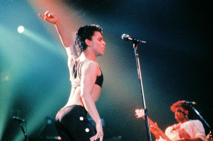 Prince en1986 au Zénith de Paris.