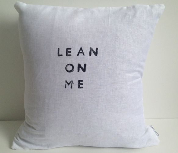 Lean On Me Pillow - great for a friend who needs some love and encouragement