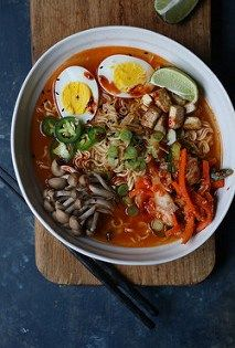 Kimchi Ramen, with homemade kimchi recipe. #vegan #vegetarian