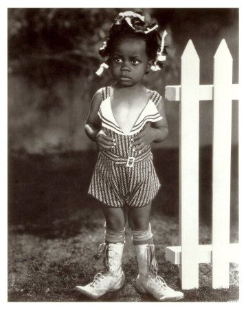 """Buckwheat was a beautiful little boy. When I cam across this picture, I had a warm feeling and thought, """"oh, my friend Buckwheat"""". As a child, I watched the Little Rascals. All along I thought of the Little Rascals as my friends. I didn't see color or race."""