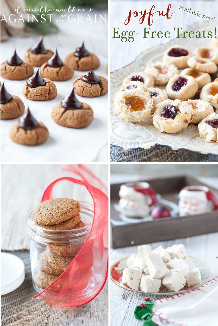 Egg-Free and Gluten-Free Holiday Treats! Find these and 20 others in the new paleo cookbook Joyful!
