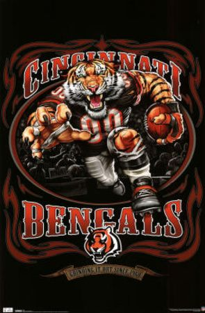 Cincinnati Bengals (Mascot, Grinding It Out Since 1968) Sports Poster Print
