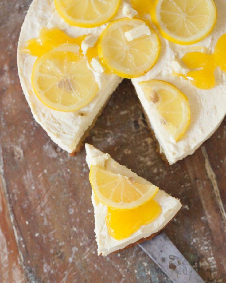 Vit chokladtårta med lemon curd