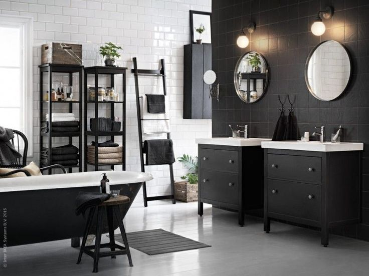 black and white ikea bathroom by marcus lawett