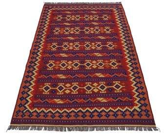 Loon Peak One-of-a-Kind Tylor Handmade Kilim 6'2 x 9'8 Wool Red Area Rug Loon Peak
