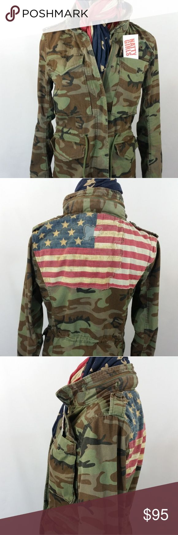 Ralph Lauren Supply & Denim (Polo) Jacket Camouflage Jacket w/American Flag on back Ralph Lauren Jackets & Coats