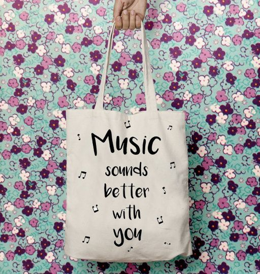 Gifts for musicians, Tote canvas bag, Music art, Cotton fabric, Music gifts, Everyday carry, Carry on bag, Gift for boyfriend, Music lovers