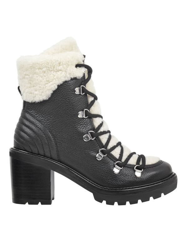 d9fe08059ac A heeled lug sole, a rounded toe, and shearling details give the ...