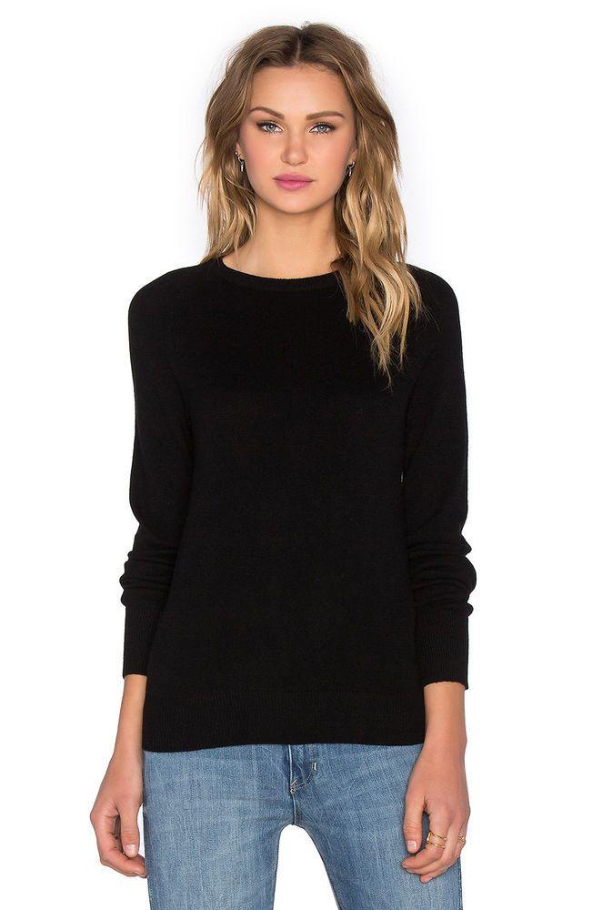 NWT Equipment Sloane 100% Cashmere Crewneck Long sleeve Black Sweater - Large  | eBay #equipment #cashmere #luxefashionfinds