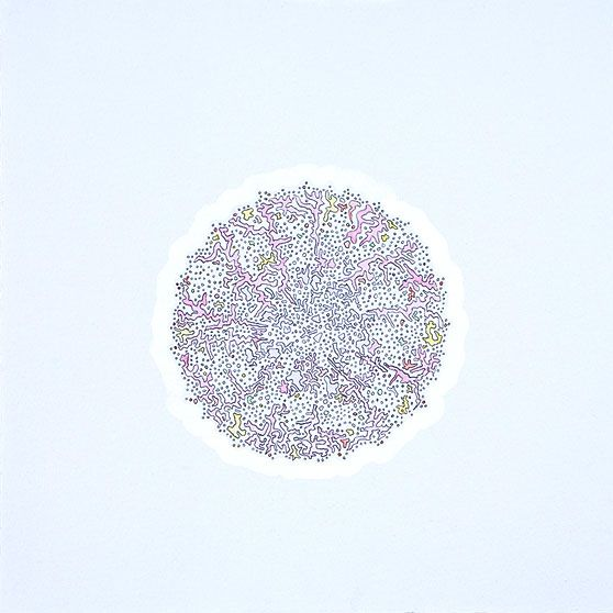 Karin Schaefer, Meditation 12/9/09, 2010 graphite, watercolor and gouache on paper 10 x 10 inches