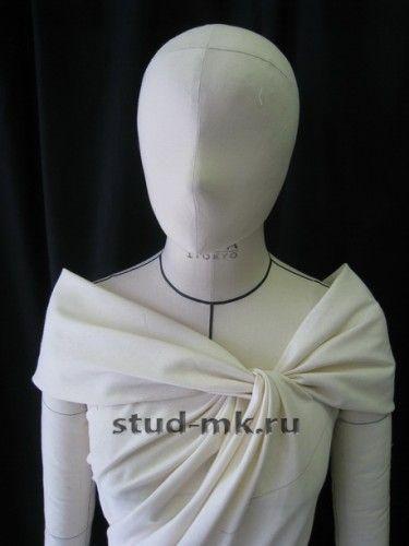 Twisted neckline