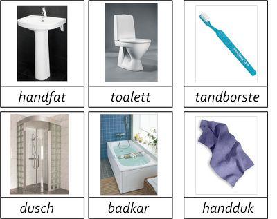 Kort i 3 delar om badrummet.Materialet innehåller 30 kort.Vill du ha materialet så maila mig. montessorimaterial@hotmail.com