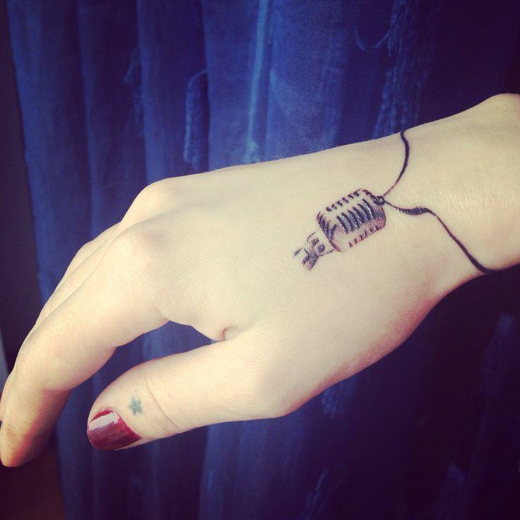 Microphone tattoo by Razvan Popescu @ BioArtTattoo Romania