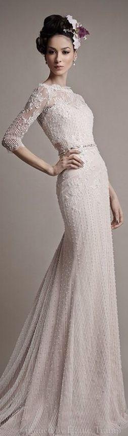 Ersa Atelier Spring 2015 Wedding Dresses | ht | #EndoraJewellery - Custom Swarovski crystal bridal, bridesmaid and flower girl jewelry