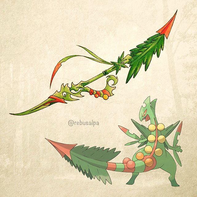 Pokeapon No. 254 - Mega Sceptile. #pokemon #megasceptile #sceptile #森林牙 #pokeapon