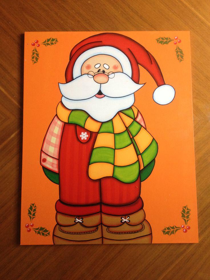 Santa claus en overall estaca para decorar tu jard n en for Disenos navidenos para decorar puertas