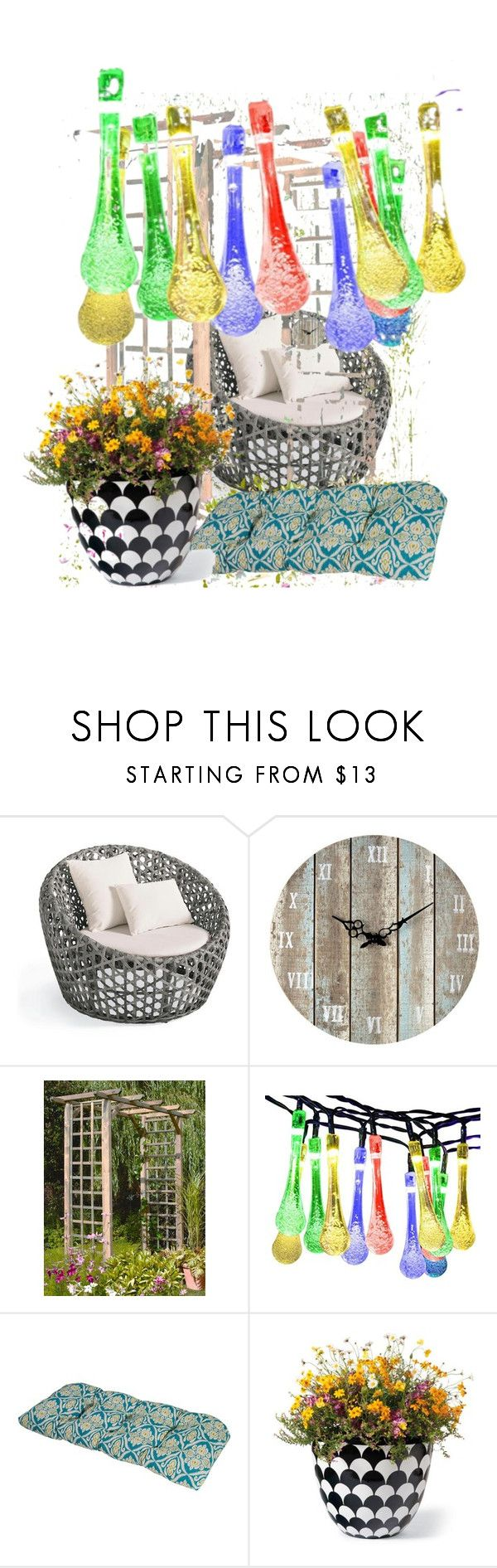 Untitled #159 by vendys on Polyvore featuring interior, interiors, interior design, home, home decor, interior decorating, Grandin Road, Terrasol and Sterling