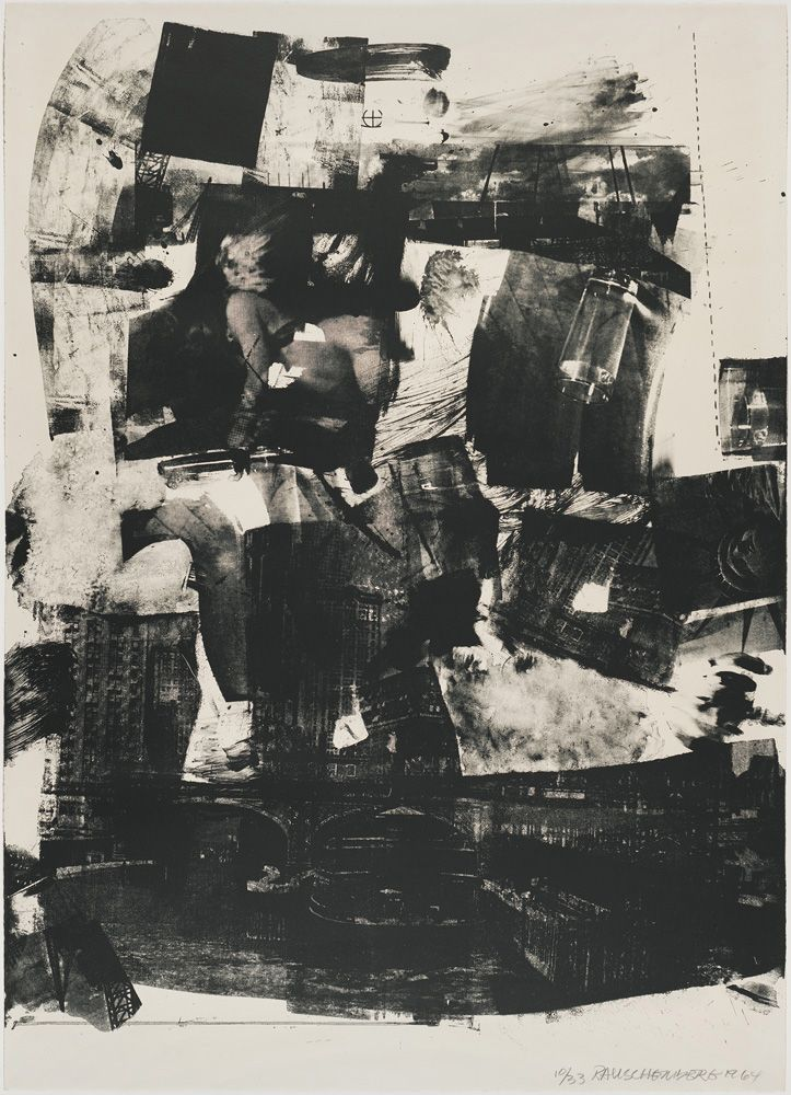 Robert Rauschenberg - Kip Up, 1964 Lithograph 41 1/4 x 29 5/8 in. / 104.7 x 75.3 cm.