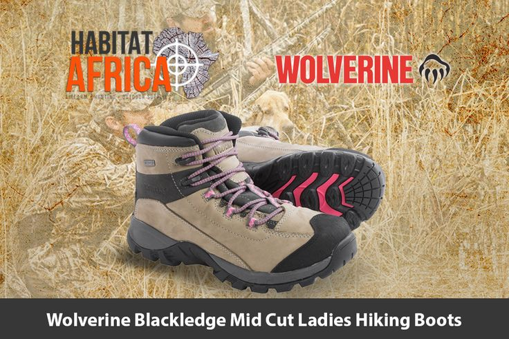 The Wolverine Blackledge mid cut ladies hiking boots are nimble and light for…