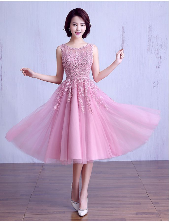 1950s Vintage Style Inspired Beaded Lace Prom Dress